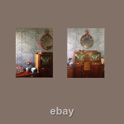 Plb-10 Vieux Backsplash Couleur De Pelage Embossé Panneaux De Plafond Mural 3d 10tiles / Lot