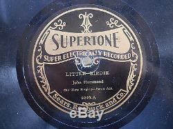Rare Anne Bluegrass Ancien Chant Avec Banjo John Hammond 78 RPM Record