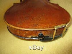 Rare Antique Vintage 1803 Maître Allemand C. F. Meisel 4/4 Violon-bon Joueur