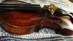 Rare Fine Old Antique 1810 Vintage Maître Klotz 4/4 Tonalité Violon-solo