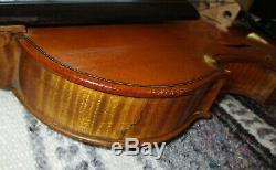 Rare Fine Old Antique 1850 Vintage Italian 4/4 Violon Great Condition-xlnt Wood