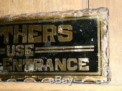 Rare Old Baigneuses Originale En Verre Inversée D'or Du Commerce Antique Vintage Hôtel Inscrivez-vous