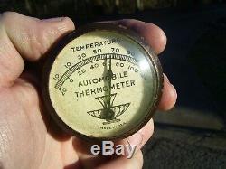 S Originaux 1940' Années 1950 Vintage Accessoires Automobiles Pare-soleil Thermomètre Bombes Gm