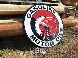 Signe Antique Antique D'huile De Moteur Rouge De Style Ancien 24! Vente