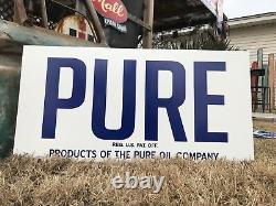 Signe Antique D'huile De Gaz Pure De Vieux Modèle