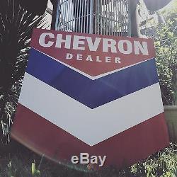 Signe Antique De Pétrole Et D'essence Chevron De Style Ancien Vintage! Livraison Gratuite