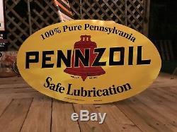 Signe De Gasoil De Style Ancien Antique Vintage De Pennzoil 40 Pouces