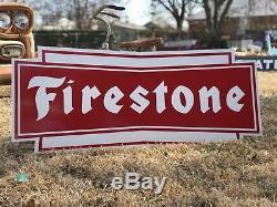 Signe De Pneus Firestone Vintage Old Style Ancien