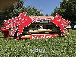 Signe Gauche Et Droit Antique Vintage De Vieux Style Mobil Pegasus! Vente