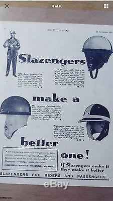 Slazenger New Old Stock Casque Crash Medium 7 Everoak Kangol Stadium Aviakit