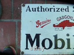 Station D'essence De Signe De L'émail Ancienne Bouteille Mobil Ancienne Gargouille Mobil Vintage
