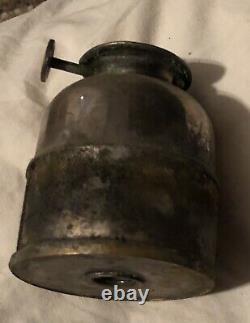 Steam Gauge&lantern #3 Nickel Plated Conductor/presentation Sg&l Old Vtg Antique