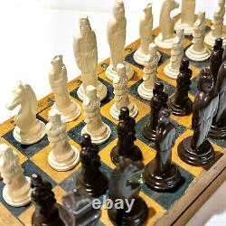 Style Militaire Chess Vintage Ussr Set Soviet Gypse Russe Antique Vieux Rare Su
