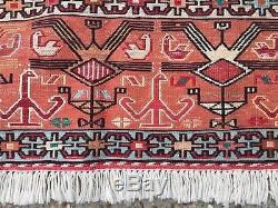Tapis Persan Soumak Kilim, Maison De Campagne Ancienne En Laine, Minable, Kelim, 194x120cm