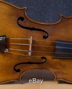 Très Vieux Violon Vintage Étiqueté Antonio Ruggieri 1723 Violon Geige