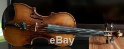 Très Vieux Violon Vintage Étiqueté Tomaso Eberle 1774 Geige