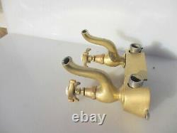 Victorian Brass Sink Mixer Robinets Bec Français Bath Basin Old Antique Vintage