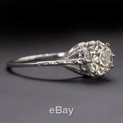 Vieille Coupe Europeenne. Bague De Engagement 941 Vs1 Diamant Antique 1ct Solitaire Vintage