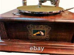 Vieille Machine Parlante Vintage Hmv Phonograph Twin-horn Antique Gramophone