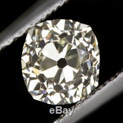 Vieille Mine Coupe Vs1 Diamond 0.68ct Antique Coussin Vintage Brillant Naturel