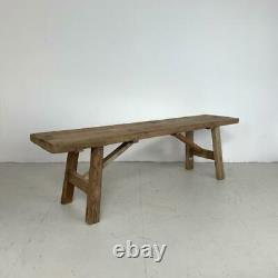 Vieille Table Basse Rustique Antique De Banc En Bois De Cru Grande #2989