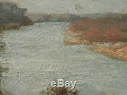 Vieux Antique Listed Vintage Artiste Peinture Fine Art Huile Sculpté Cadre $$