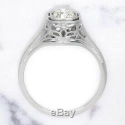 Vieux Européenne Diamond Cut Engagement Vintage Bague Solitaire Art Déco Antique