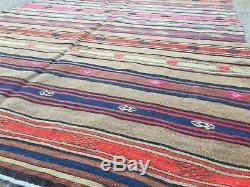 Vieux Pays Laine Vintage Ancien Turc Kilim Tapis Maison Kelim 247x145cm