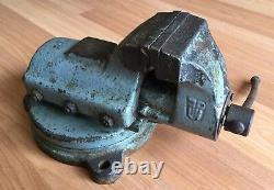 Vieux Vtg Antique Fpu Bench Vise Pologne N ° 326 Metal Blacksmith Workshop Tool