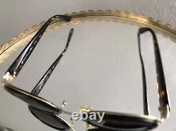Vieux Vtg Christian Dior Cd2037 41a 28 130 Faux Turtleshell Round Sunglasses CD