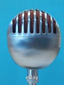 Vintage 1940s Shure 55 Fatboy Microphone Et Bureau Atlas Support Antique Déco