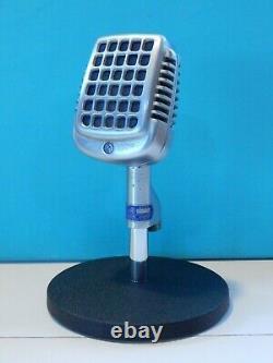 Vintage 1950s Shure 737a Microphone & Bureau Stand Old Deco Antique Shure Prop USA