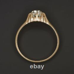 Vintage. 62ct I Vs2 Diamond Engagement Ring Old Europeen Cut Rose Gold Antique