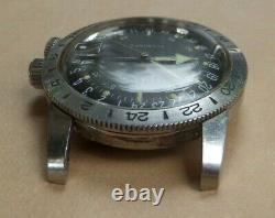 Vintage Antique Old 1960s Glycine Airman Military Automatic Watch Good Condition