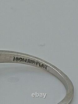 Vintage Antique Platinum 3 Pierre Vieille Anneau De Fiançailles Diamant Européen 1.07ct