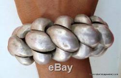 Vintage Antique Tribal Ancien Bracelet En Argent Bracelet Inde