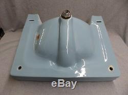 Vintage Bleu Porcelaine Céramique Évier Salle De Bains Old Standard Plomberie 443-16