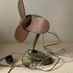 Vintage Electric Table Fan Des Années 1950 Urss Rare Antique Old Home Decor Collectible