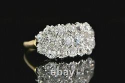 Vintage Estate 14k Or Jaune Platinum Top Old Miner Cut Diamond Ring Band 3.5
