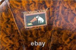 Vintage Hmv Antique Old Machine Wooden Collectible Gramophone Phonographe