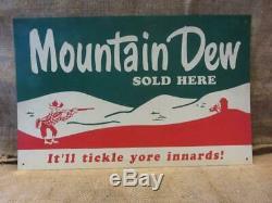 Vintage Mountain Dew Signe Ya-hoo Antique Old Pepsi-cola Soda Rare 10018