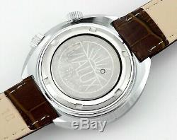 Vintage New Old Stock Vialux Date De Super-shock Alarme Tous Les Suisses Mens Montre-bracelet