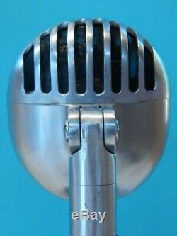 Vintage Shure 1940s 55c Fatboy Microphone W Vintage Atlas Console De Bureau Antique