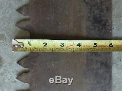 Vintage Two 2 Cross Man Cut Saw 70 Logging Antique Bûcheron Old Can Décor