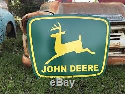 Vintage Vintage Old John Deere Vert Jaune 39 Signe De La Ferme