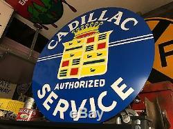 Vintage Vintage Old Look Cadillac Look Signe En Porcelaine. Livraison Gratuite