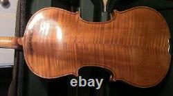 Violon Vintage 4/4 Fiddle Old Antique Utilisé Vuillaume Un Paris Pleine Grandeur