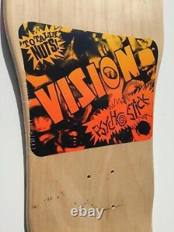 Vision Psycho Stick Old School Réédition Skateboard Deck Natural Stain New Us Made