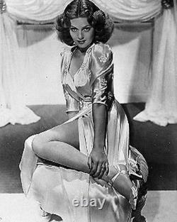 Vtg Années 1940 Old Hollywood Saybury Peach Satin Robe De Chambre Trapunto Slves