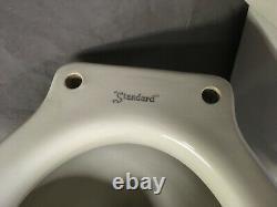 Vtg Art Déco Céramique Blanc Porcelaine Réservoir De Cuvette Couvercle Vieux Standard 14-20e